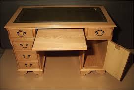 Pedestal Computer Desk Reproduction Computer Desks Yew Oak Walnut Poplar And