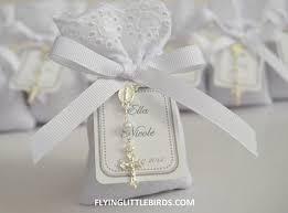 printed ribbons for favors lavender sachet favors with rosary white ribbon baptism