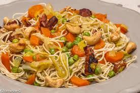cuisine chinoise facile nouilles chinoises aux légumes kilometre 0 fr