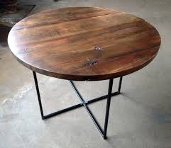 wood and metal round dining table impressive round reclaimed wood dining table within ordinary on