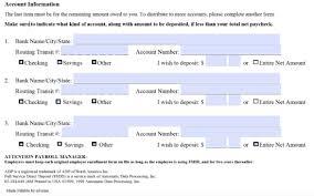 adp direct deposit form business form templates