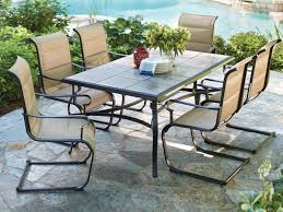 Outdoor Patio Dining Table Patio 53 Cast Iron Patio Furniture Home Styles Table 7 Piece