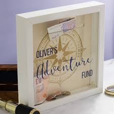 money box personalised adventure fund money box frame by mirrorin