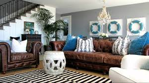 Blue Home Decor Ideas Beach House Design Ideas Nautical Themed Interior Decorating