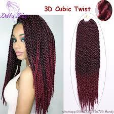 Curly Hair Braid Extensions by 3d Cubic Twist Crochet Braids 18