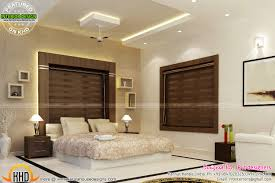 bifurcated stair bedroom kitchen interiors kerala home design