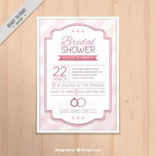 Vintage Bridal Shower Vintage Bridal Shower Invitation With Elegant Frame Vector Free