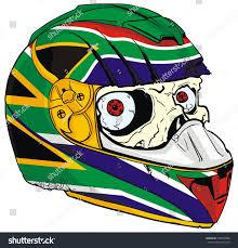 Aftican Flag Helmet Skull South African Flag Stock Vector 123819598 Shutterstock