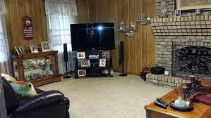 need ideas for wood paneling in living room