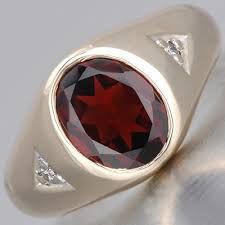 fay cullen archives rings estate men u0027s garnet ring