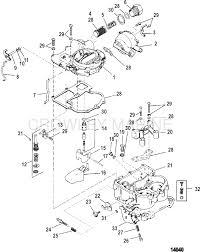 carburetor mercarb two barrel mercury oem parts iboats com