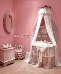 European Crib Mattress Modern Baby Bassinet Princess Pink Baby Cradle European