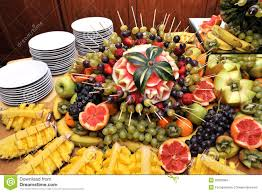 fruits on a buffet table stock photo image of appetizers 25005084