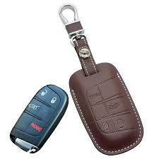 jeep key leather car key fob cover for jeep grand longitude