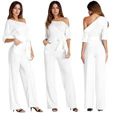guess jumpsuit white jumpsuit for wed guess casual poket 70s