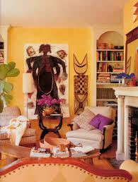 interior african interior decor with wooden table outstanding