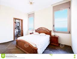 Luxury Bedroom Wide Luxury Bedroom With A Separate Dressing Room Stock Photo