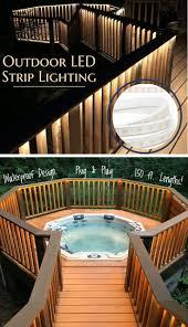 Led Strip Lighting Outdoor by Outdoor Led Lights For Decks Sacharoff Decoration