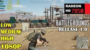 pubg 1 0 release hd 7850 r7 265 pubg 1 0 release 1080p low medium and high