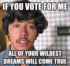 Vote For Me Meme - if you vote for me all of your wildest dreams will come true