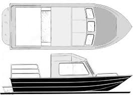 canyon cruiser 21 foot inboard sled cruiser boat design for the