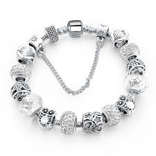 handmade charm bracelet images Silver plated handmade charm bracelets for women owl star charm jpg