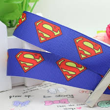 superman ribbon duwes new 7 8 free shipping blue superman printed grosgrain