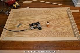 wood framed diy wood framed upholstered headboard with nailhead trim part 1
