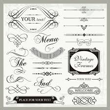 vector set of vintage ornamental and page decoration calligraphic