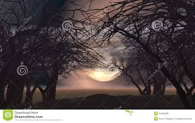 3d halloween background 3d spooky landscape with trees stock illustration image 45004289