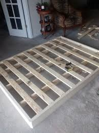 Low Waste Platform Bed Plans by How To Make A Cheap Low Profile Wooden Bed Frame Mattress