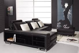 Black Leather Sofa Modern Amazing Leather Modern 2888 Furniture Best Furniture