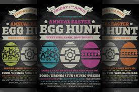 easter egg hunt flyer template v2 flyer templates creative market