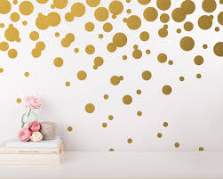polka dot wall decals gold confetti wall decal set unique