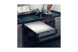 table cuisine escamotable tiroir table plan de travail escamotable à encastrer accessoires de cuisines