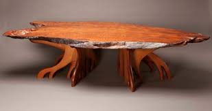 Redwood Coffee Table Edge Redwood Coffee Table Chrysalis Woodworks