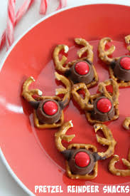 reindeer christmas cookies pretzels christmas lights decoration
