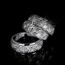 christian wedding rings sets new 10k white gold marquise groom cross christian