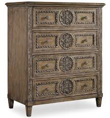 Slaters Furniture Modesto by Hooker Furniture Solana Tall Chest With 4 Drawers And Rosette