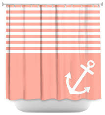 Nautical Anchor Shower Curtain Shower Curtain Unique From Dianoche Designs Coral Love Anchor