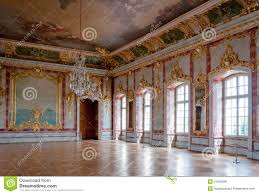 baroque interior of a noble palace royalty free stock photography