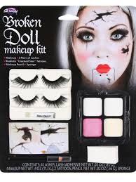 broken doll make up kit halloween fancy dress eyelashes horror fx