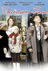 a christmas snow family