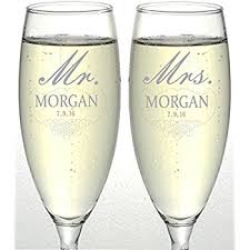 Engravable Wedding Gifts Amazon Com Gifts Infinity 2 Engraved Wedding Flutes