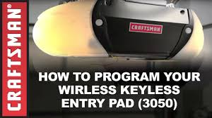 keychain garage door opener craftsman how to program a craftsman garage door opener keypad youtube