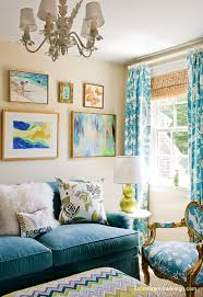 turquoise sofa contemporary living room katie rosenfeld design