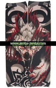 bloody wolf tattoo sleeve