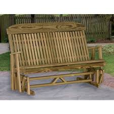 amish patio glider benches pinecraft com u2022 double gliders