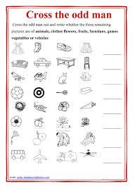 cross the odd man out worksheet free esl printable worksheets