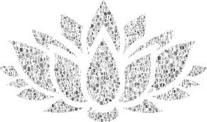 clipart prismatic lotus flower silhouette 6 circles 9 no background